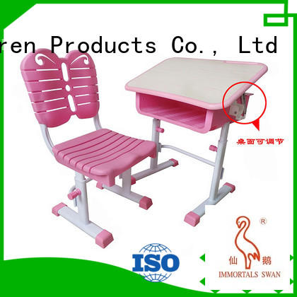 children plastic children's study table and chair preschool Aoqi