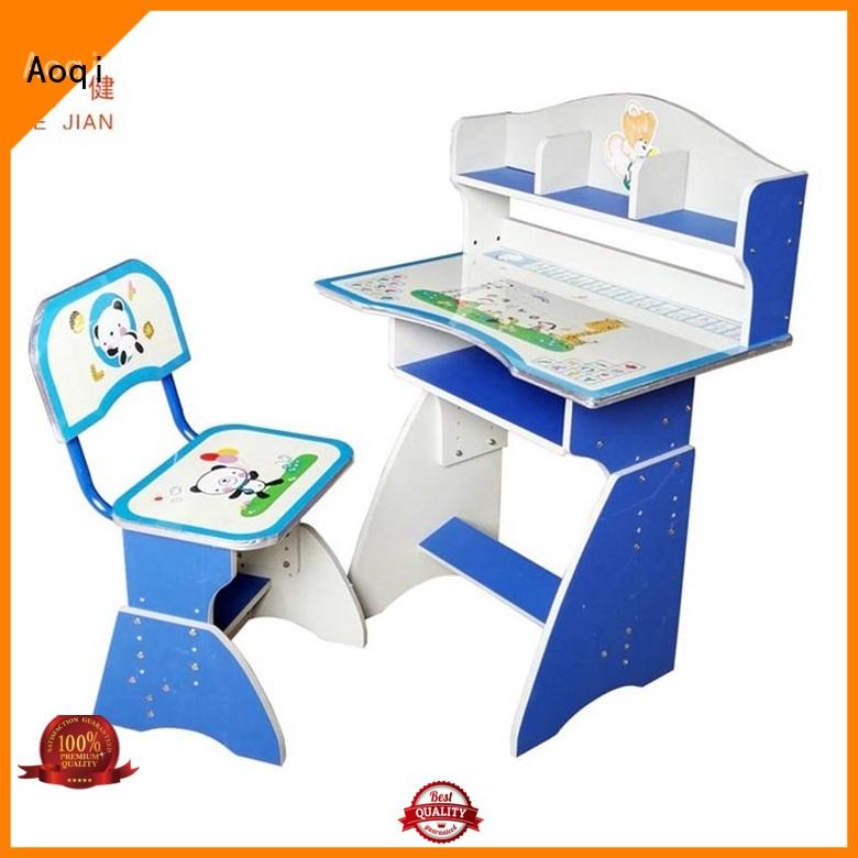 kids study table and chair set plastic children Aoqi Brand company