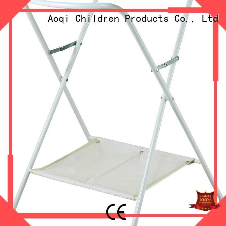 Wholesale high quality folding baby bath stand metal Aoqi Brand