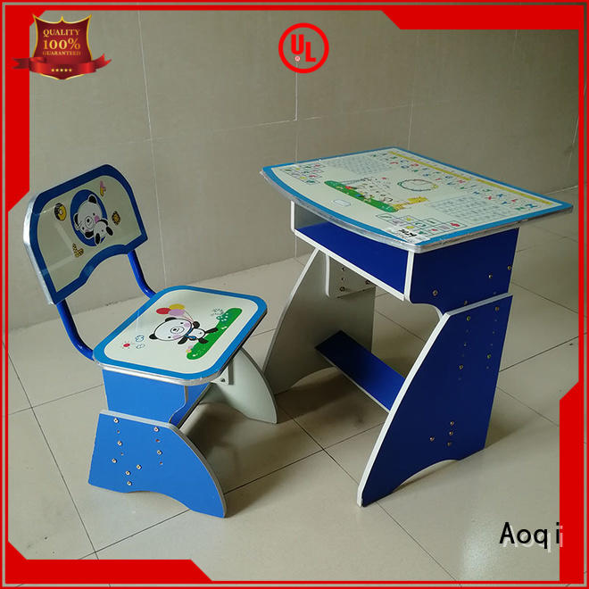 kids study table and chair set preschool plastic Bulk Buy adjustable Aoqi