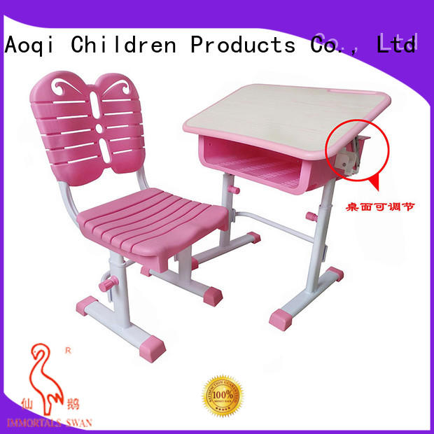 Aoqi kids study table set factory for household