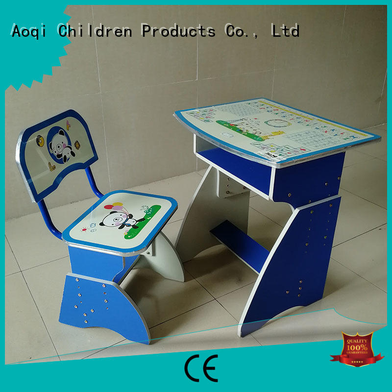 adjustable plastic children's study table and chair stable Aoqi company