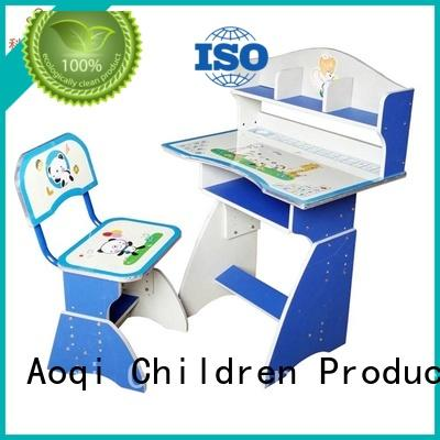 Custom table stable children's study table and chair Aoqi kids