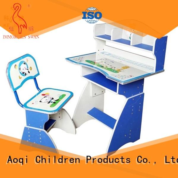 Aoqi study table with chair for child with good price for household
