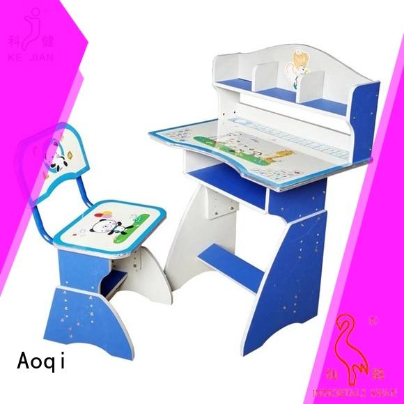 Aoqi kids study table set design for home