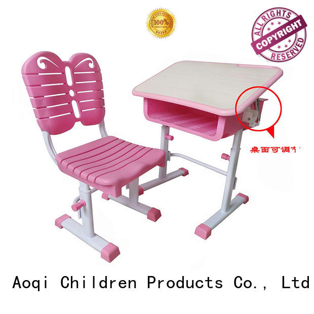 kids study table and chair set learning preschool plastic Aoqi Brand children's study table and chair