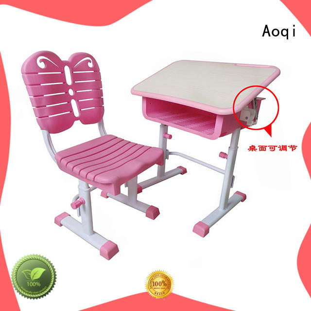 Aoqi preschool study table and chair set design for household