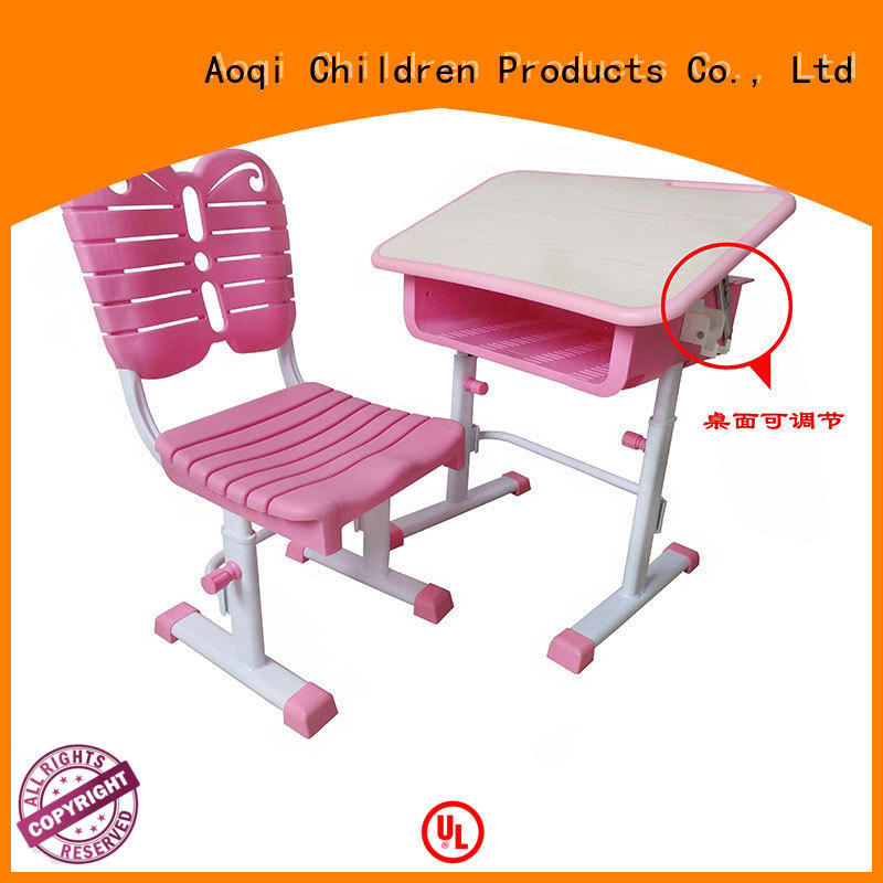preschool learning OEM children's study table and chair Aoqi
