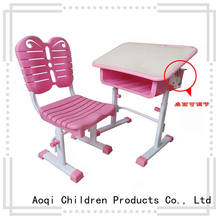 preschool study desk and chair set with good price for household