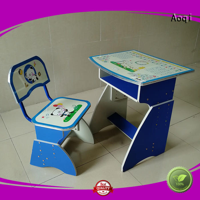 Wholesale wooden kids study table and chair set Aoqi Brand