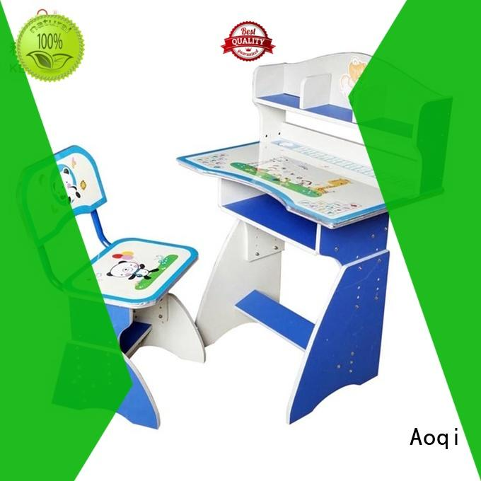 Aoqi excellent children's study table and chair factory for study