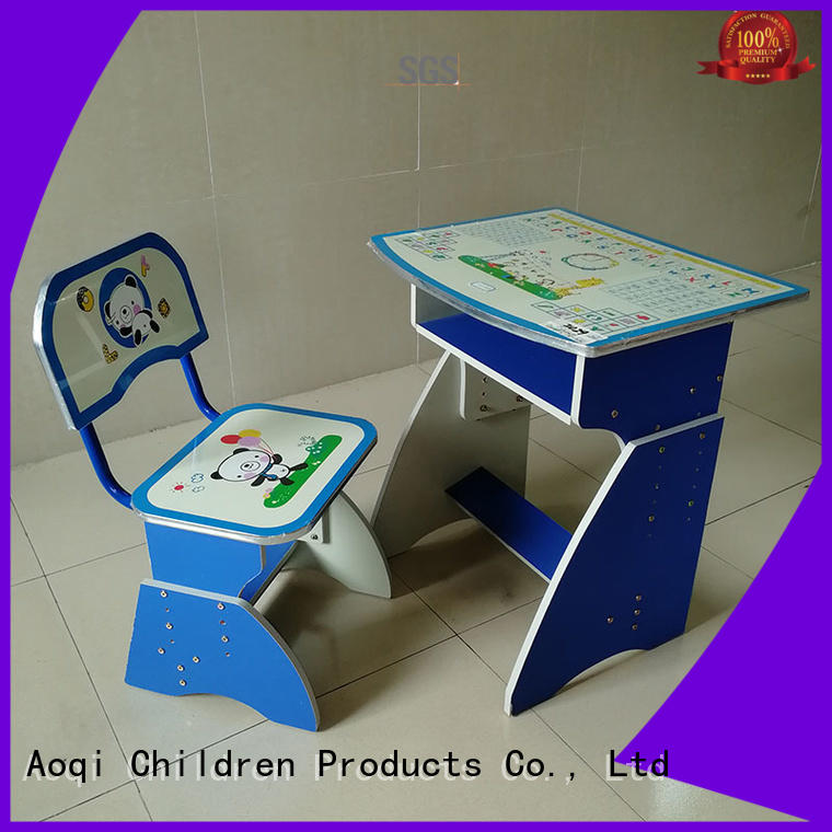 stable kids study table and chair set table plastic Aoqi Brand