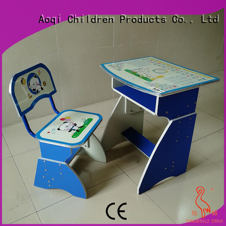 plastic study table and chair set factory for household