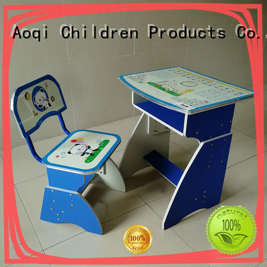 plastic children's writing table and chair chair for home Aoqi