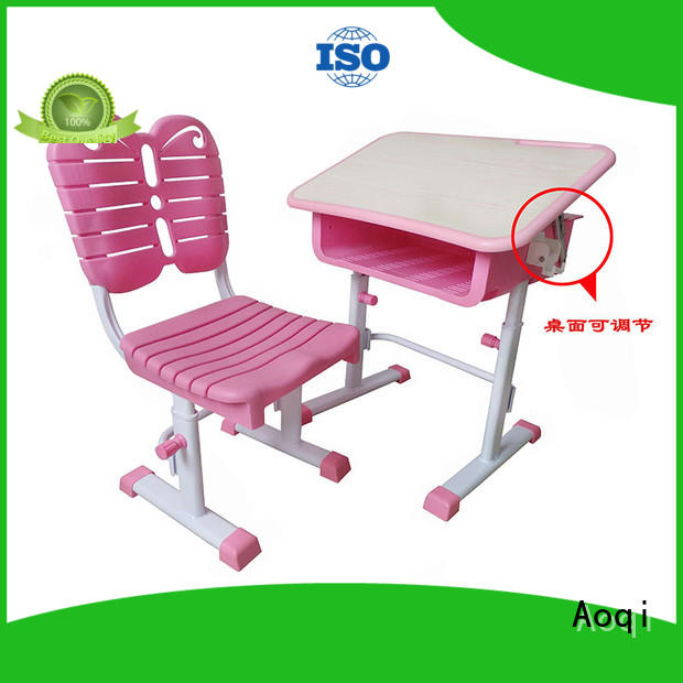study table with chair for child with good price for household Aoqi