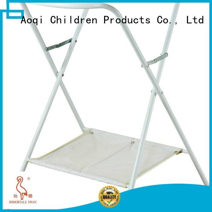 Aoqi Brand standing foldable metal folding baby bath stand stable