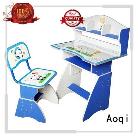 high quality plastic kids study table and chair set Aoqi Brand