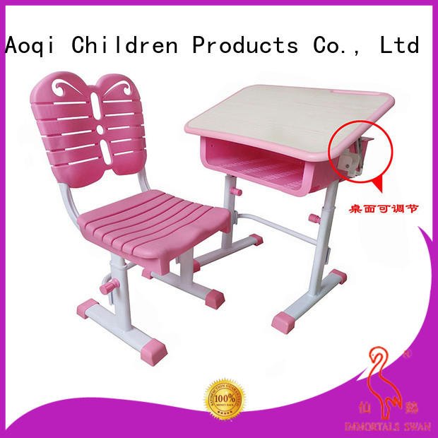stable study desk and chair set factory for household