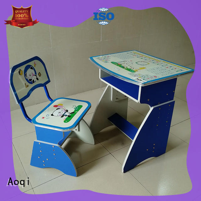 Aoqi study table and chair set with good price for home