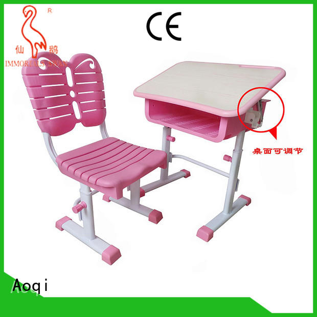 Aoqi kids study table set with good price for household