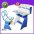 Aoqi plastic study table and chair set design for household