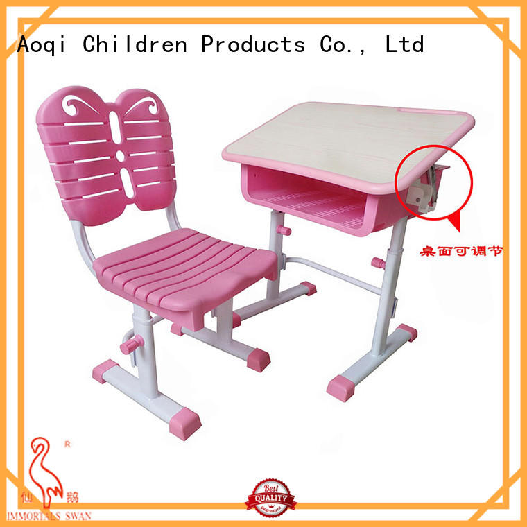 kids study table and chair set affordable wooden Aoqi Brand company