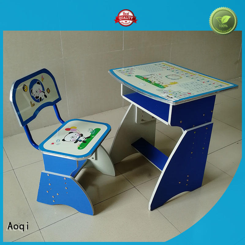 Aoqi sturdy study table with chair for child factory for study