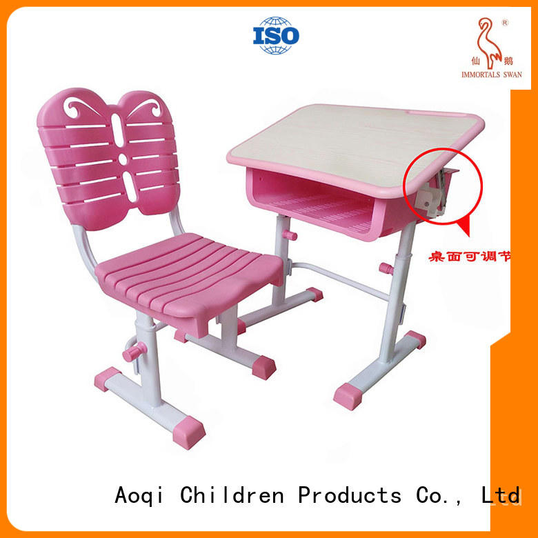 kids study table and chair set children Aoqi Brand children's study table and chair
