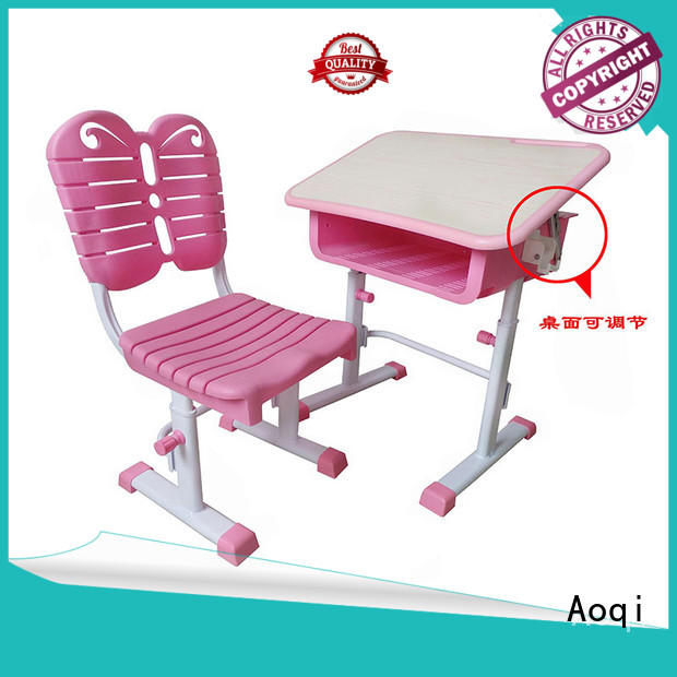 preschool children's study table and chair with good price for household