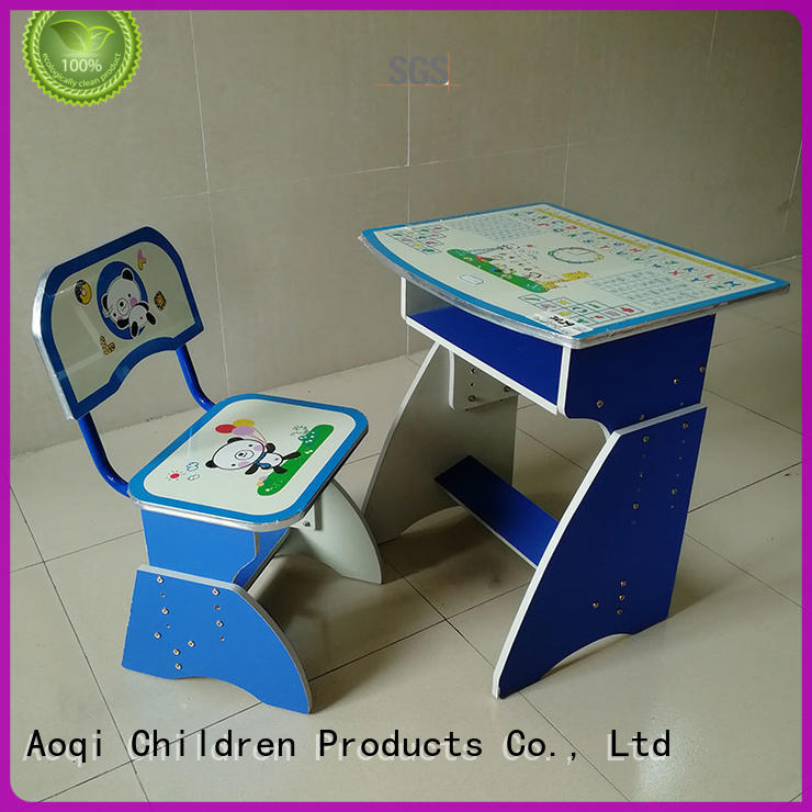 Aoqi excellent kids study table and chair set kids for home